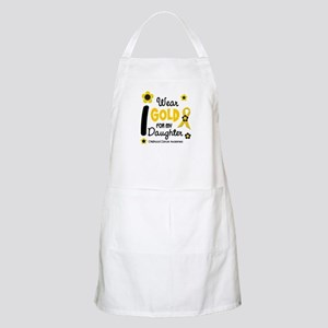 I Wear Gold 12 Daughter CHILD CANCER BBQ Apron