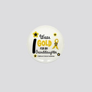 I Wear Gold 12 Granddaughter Mini Button