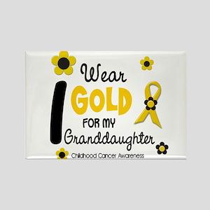 I Wear Gold 12 Granddaughter Rectangle Magnet