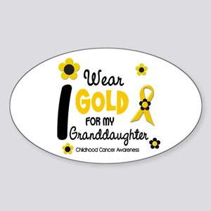 I Wear Gold 12 Granddaughter Oval Sticker