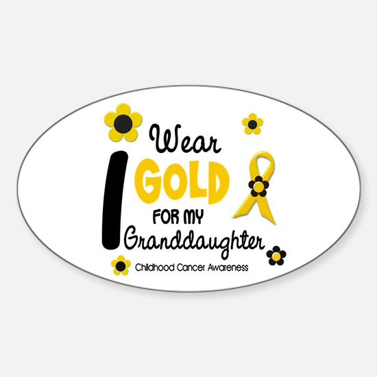 I Wear Gold 12 Granddaughter Oval Decal
