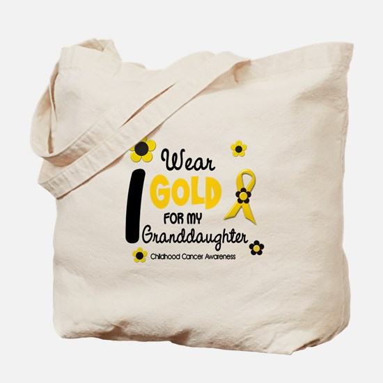 I Wear Gold 12 Granddaughter Tote Bag