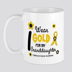I Wear Gold 12 Granddaughter Mug