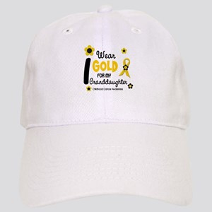I Wear Gold 12 Granddaughter Cap