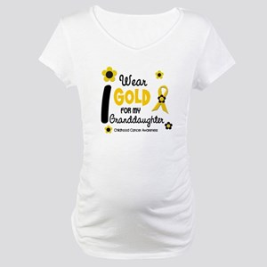 I Wear Gold 12 Granddaughter Maternity T-Shirt