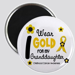 I Wear Gold 12 Granddaughter Magnet