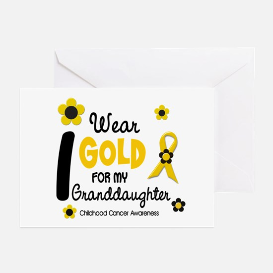 I Wear Gold 12 Granddaughter Greeting Cards (Pk of