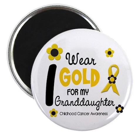 """I Wear Gold 12 Granddaughter 2.25"""" Magnet (10 pack"""