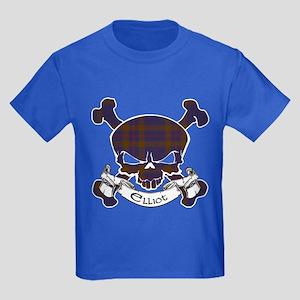 Elliot Tartan Skull Kids Dark T-Shirt