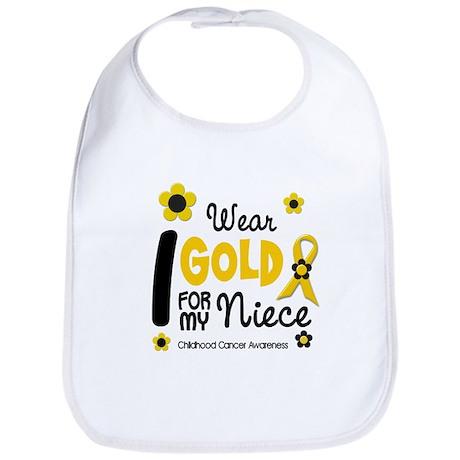 I Wear Gold 12 Niece CHILD CANCER Bib