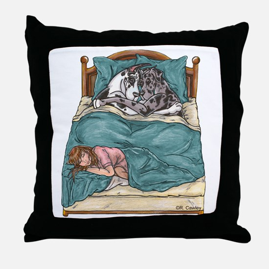 CHNMrl Bedtime Throw Pillow