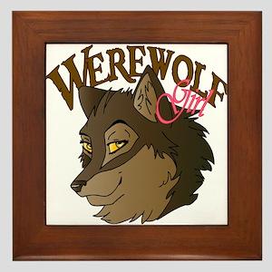Werewolf Girl Framed Tile