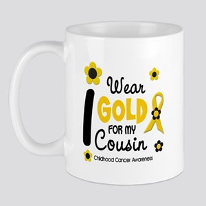 I Wear Gold 12 Cousin CHILD CANCER Mug