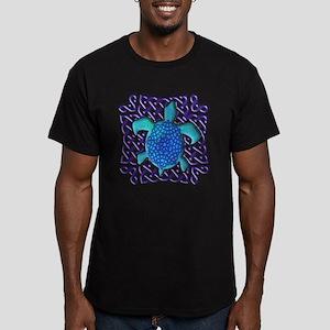 Celtic Knot Turtle (Blue) Men's Fitted T-Shirt (da