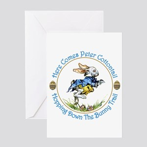 Easter- Here Comes Peter Cottontail Greeting Card