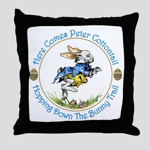 Easter- Here Comes Peter Cottontail Throw Pillow