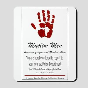 Muslim Fingerprinting Mousepad