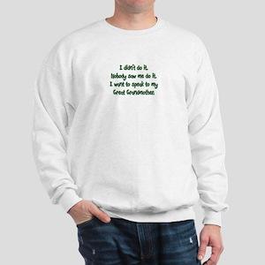I want to Speak to My Great Grandmother Sweatshirt