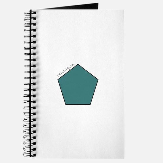 teal pentagon Journal
