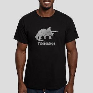 Triceratops Dinosaur Men's Fitted T-Shirt (dark)