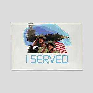 Military I Served Rectangle Magnet