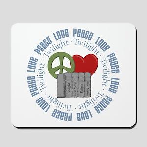 Peace Love Twilight Books Mousepad