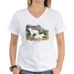 Audubon Mountain Goat Animal (Front) Women's V-Nec