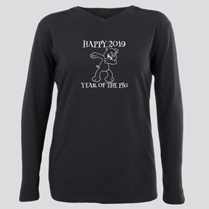 Hapyy 2019 Year Of The Pig Funny Dabbing T-Shirt