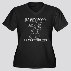 Hapyy 2019 Year Of The Pig Funny Plus Size T-Shirt