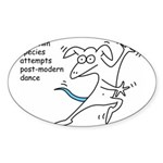Unknown Species Attempts Post Oval Sticker (50 pk)