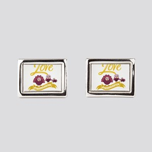 I Love My Kindergarten Turke Rectangular Cufflinks