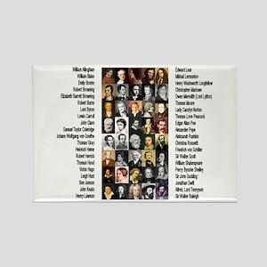 Famous Poets Rectangle Magnet