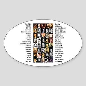 Famous Poets Sticker (Oval)
