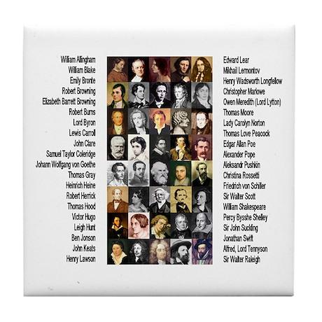 Famous Poets Tile Coaster