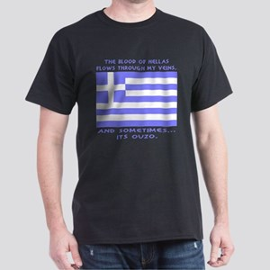 Blood of Hellas and Ouzo Dark T-Shirt