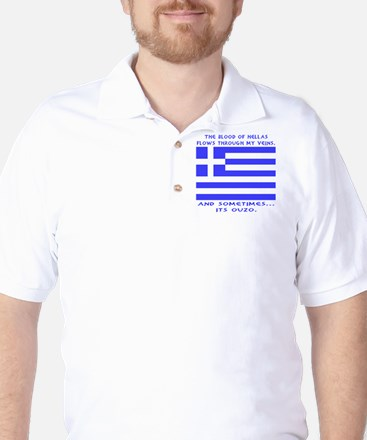 Blood of Hellas and Ouzo Golf Shirt