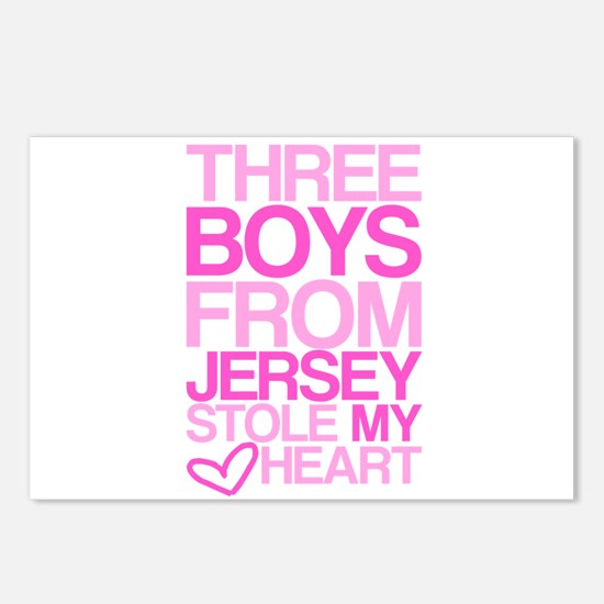 3 Jersey Boys... Postcards (Package of 8)