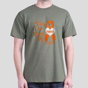 Missing My Grandma 1 LEUKEMIA Dark T-Shirt