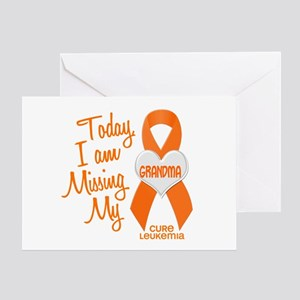 Missing My Grandma 1 LEUKEMIA Greeting Card