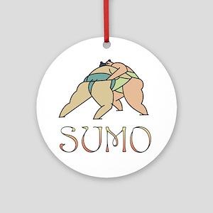 Sumo Wrestling Ornament (Round)