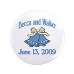 """Personalized Wedding Tile Fav 3.5"""" Button (10"""