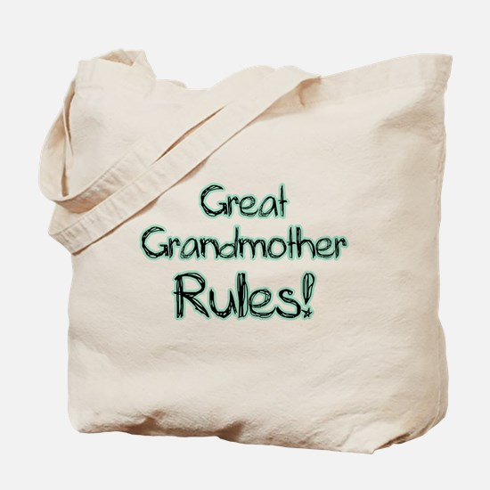 Great Grandmother Rules! Tote Bag