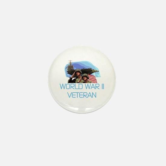 World War II Veteran Mini Button