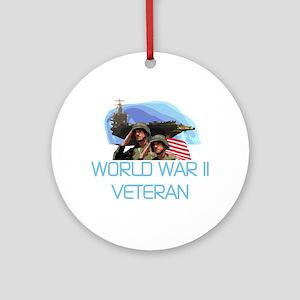 World War II Veteran Ornament (Round)