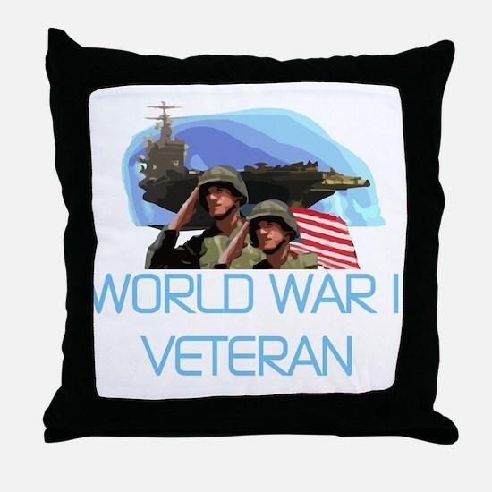 World War II Veteran Throw Pillow