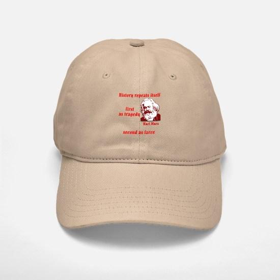 Karl Marx on History Baseball Baseball Cap