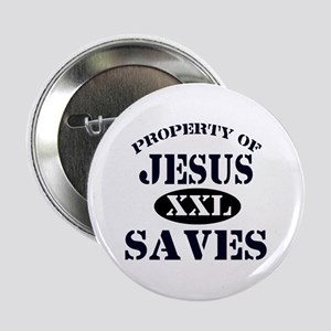 """Property of Jesus saves 2.25"""" Button (10 pack)"""