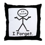 Forgetful Throw Pillow