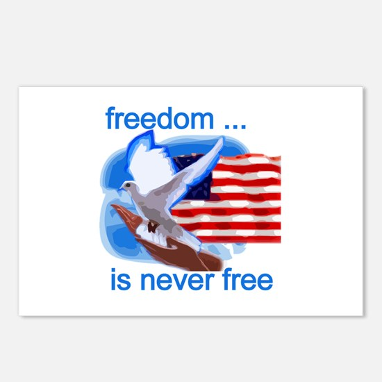 Freedom's Never Free Postcards (Package of 8)
