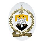 BERNIER Family Crest Oval Ornament